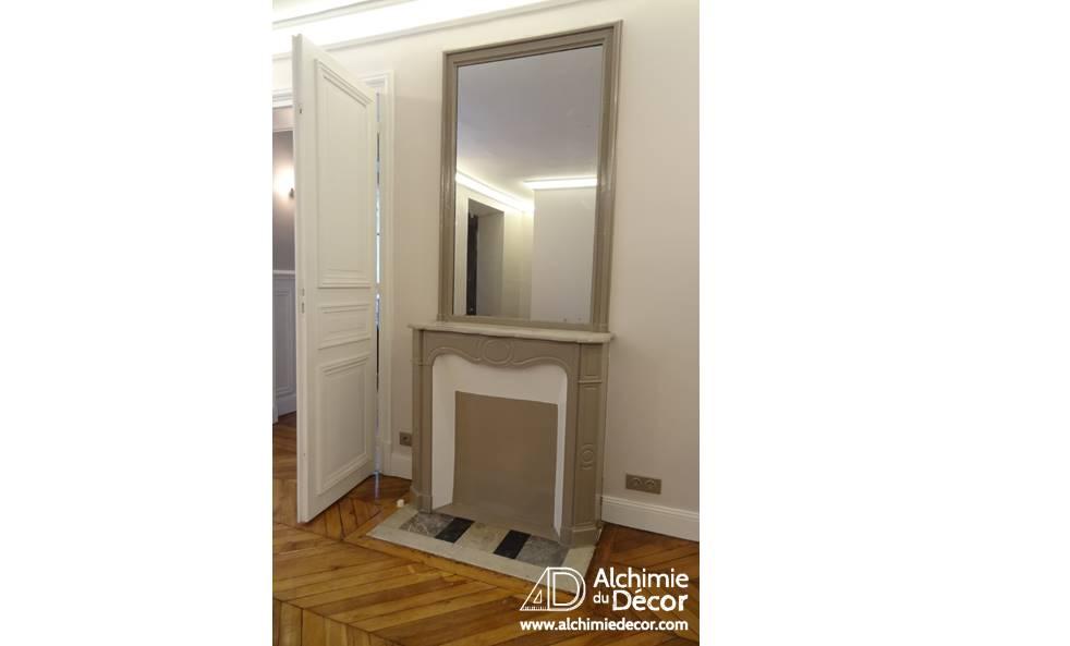 Appartement Haussmannien détail de la cheminée