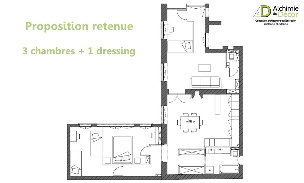 Plan appartement haussmannien for Plan interieur