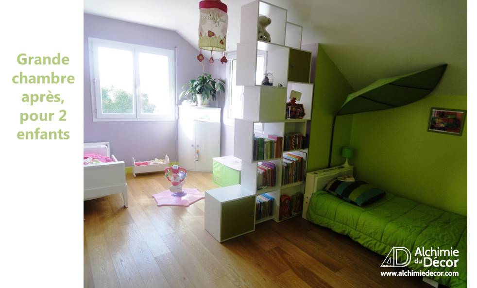 Maison familiale coloree grande chambre separation 2 for Separation chambre enfant