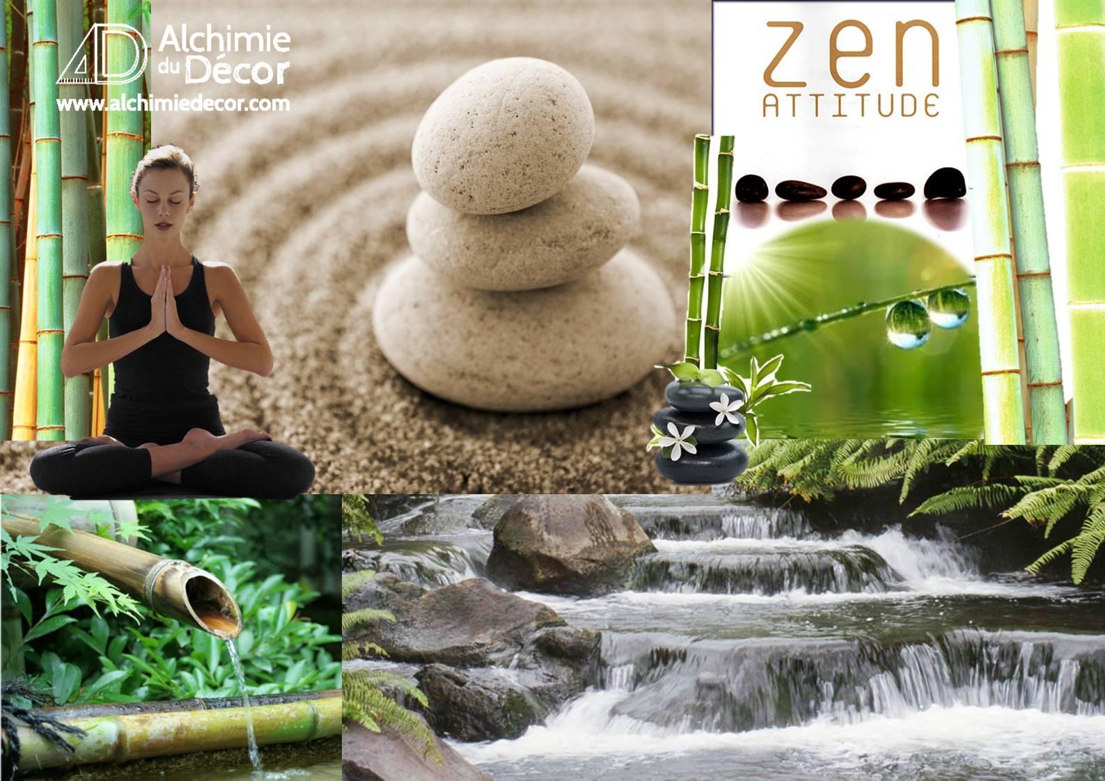 Planche d'ambiance pour le séjour zen ethnique
